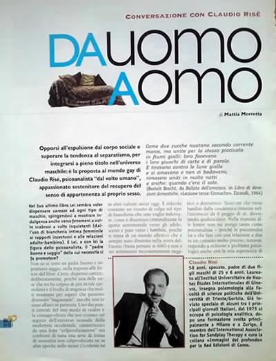 Da uomo a omo, Conversazione con Claudio Risé, 1998